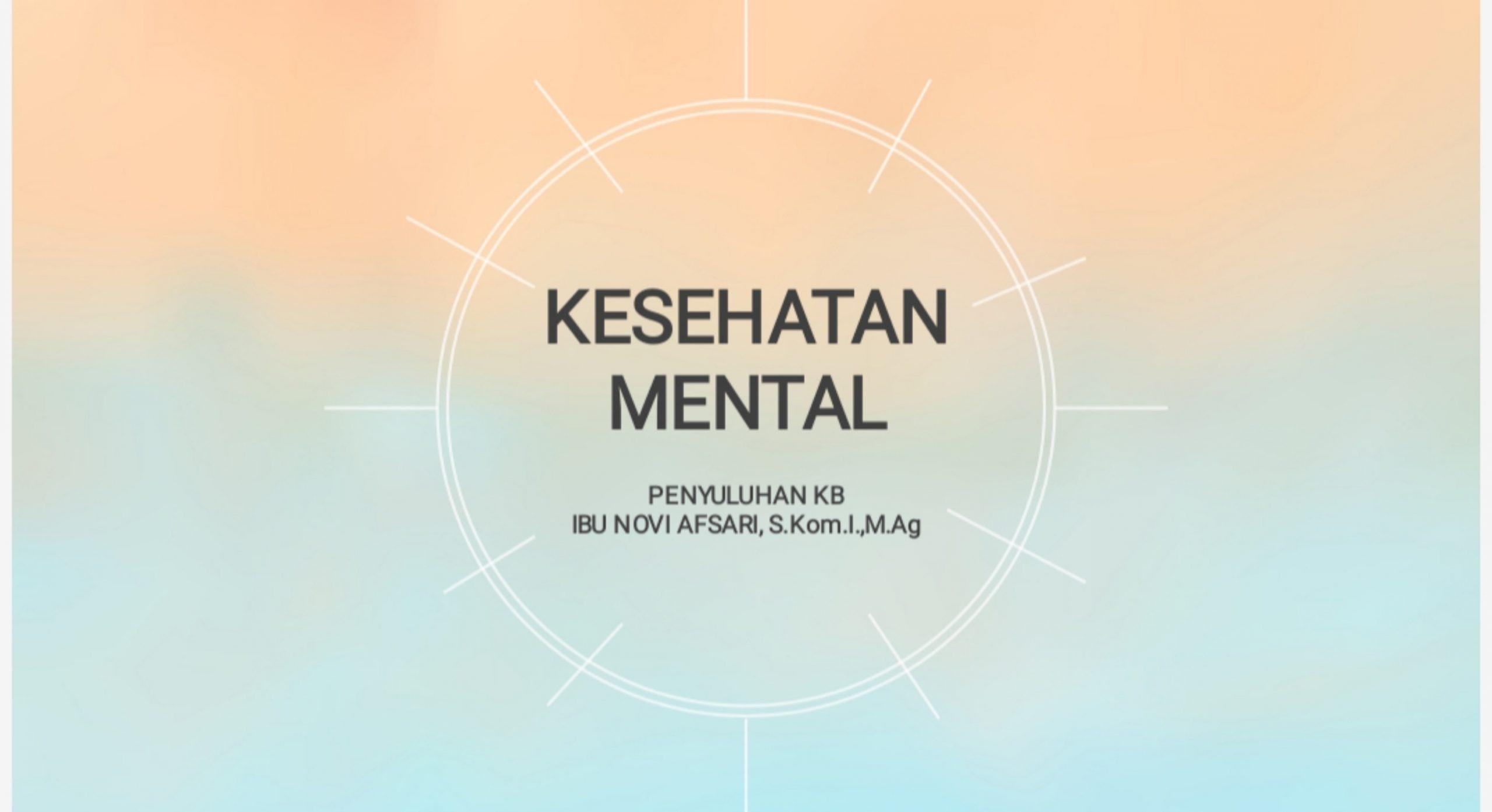 Kesehatan mental untuk remaja