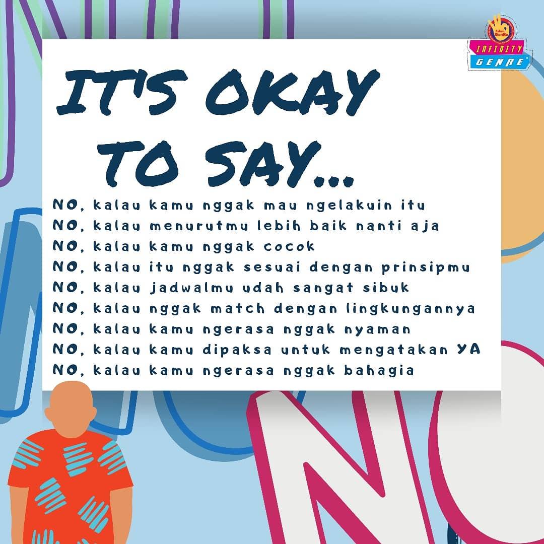 "It's Okay To Say ""No"""