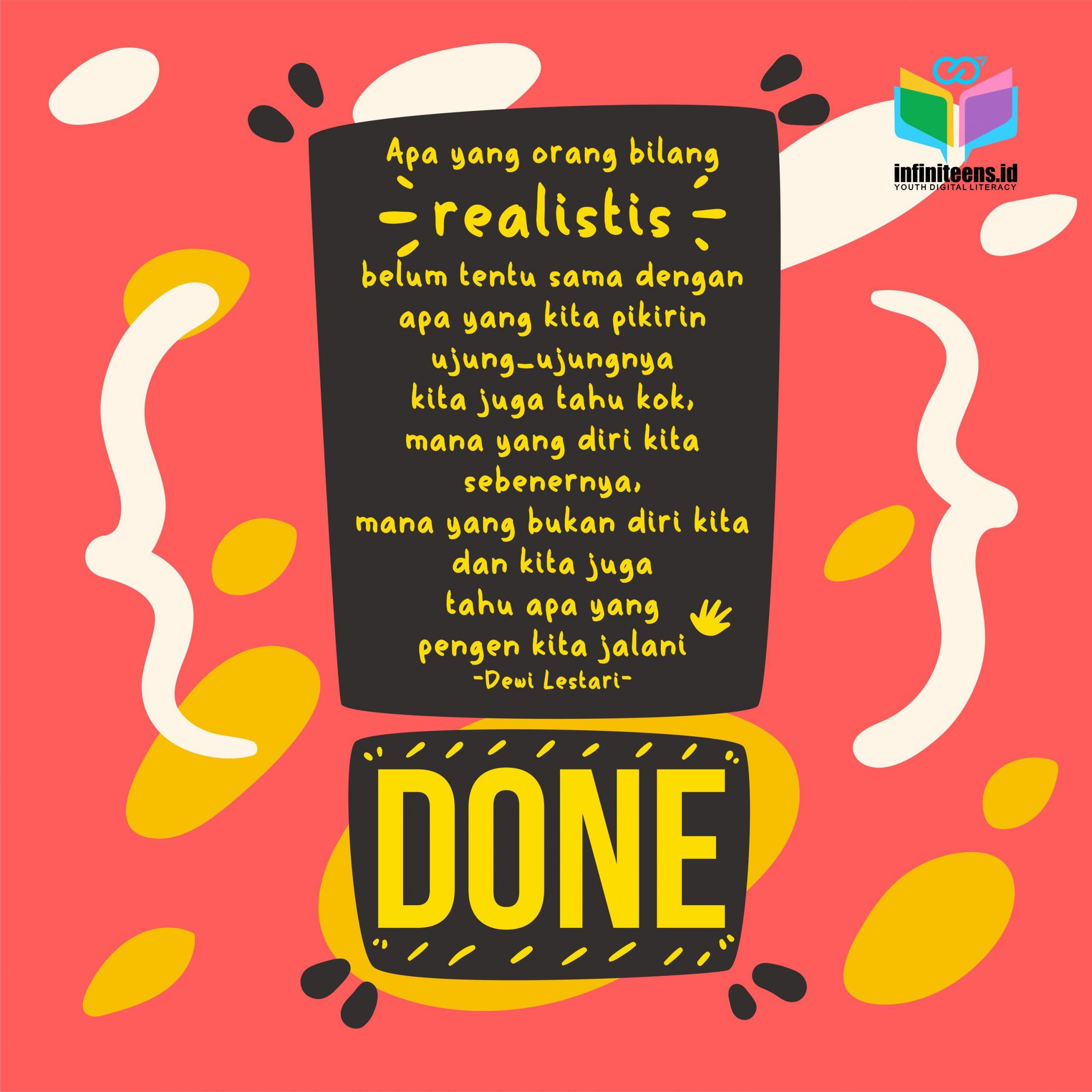 REALISTIS -Dewi Lestari-