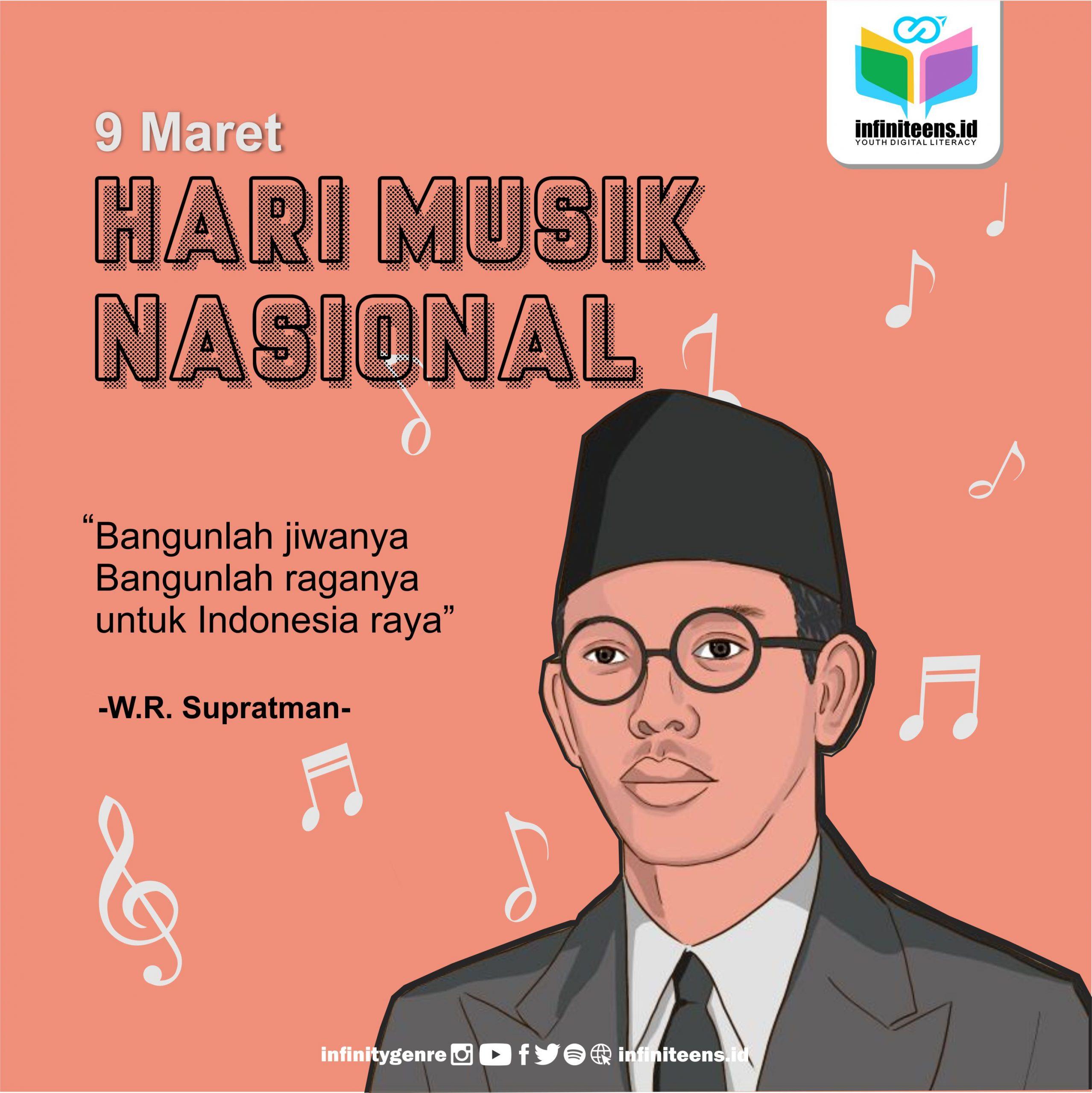 W.R. Supratman Tokoh di Balik Hari Musik Nasional